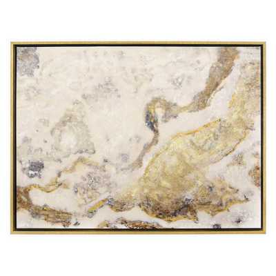 Painting W/Frame-Pnt/Lacquer in Gold Wall Art, Multicolor - Home Depot