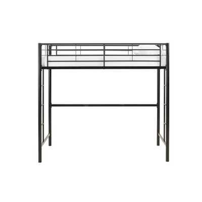 Sunrise Twin Metal Loft Bed, Black - Home Depot