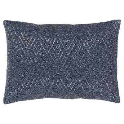 Lusins Global Regency Woven Grey Pillow - 13x19 - Kathy Kuo Home