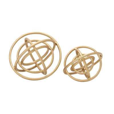 2 Piece Decorative Aluminum Ring Orb Set - Wayfair