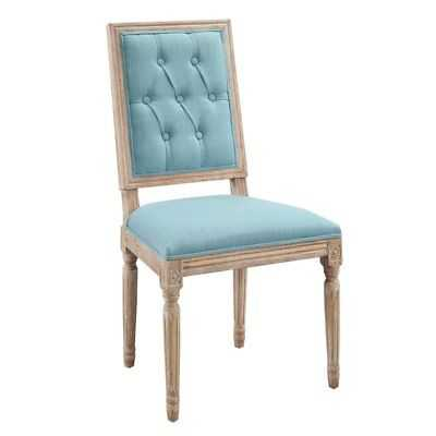 Linon Avalon Blue Tufted Square Back Dining Chair (Set of 2) - eBay