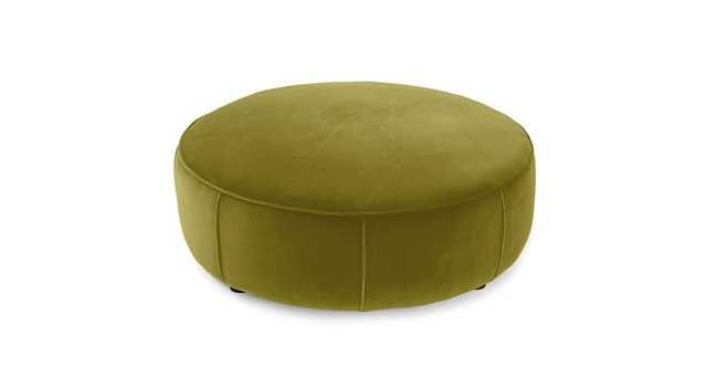 Orbis Olive Green Ottoman - Article