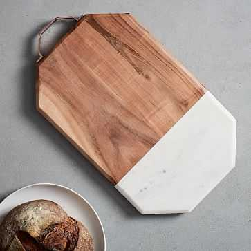 Marble + Wood Cutting Board, Large - West Elm