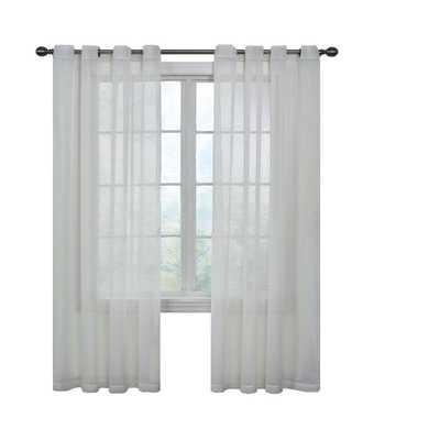 Curtain Fresh Arm and Hammer Odor Neutralizing Grommet White Sheer Curtain Panel, 108 in. Length - Home Depot