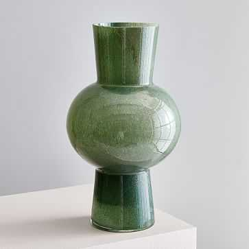 Jade Colored Glass Vases , Large Vase , Green - West Elm