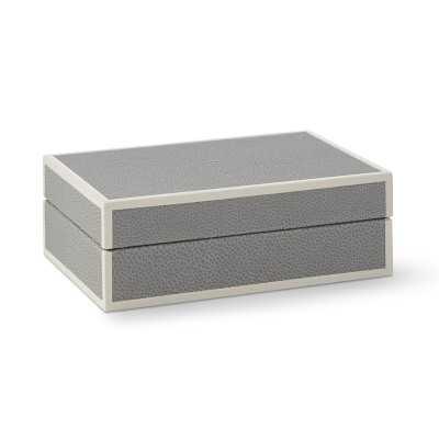 Faux Shagreen Box, Grey, Small - Williams Sonoma
