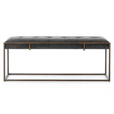 Sepviva Genuine Leather Oxford Bench - AllModern