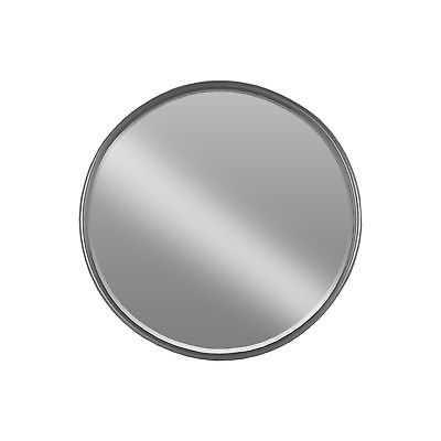 Coated Gunmetal Grey Metal Tubular Framed Round Mirror (Large) - eBay