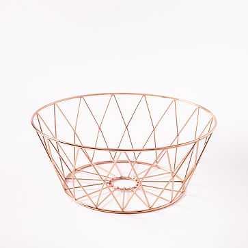 Copper Wire Fruit Bowl - West Elm