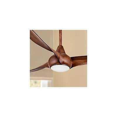 """52"""" Minka Aire Light Wave Distressed Koa Ceiling Fan - eBay"""