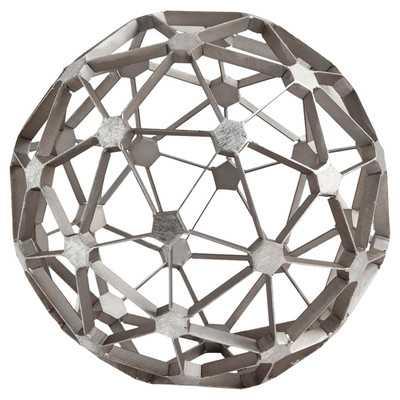 Orb Metal  Decor in Silver - Wayfair