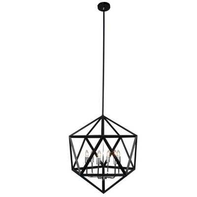 Radionic Hi Tech Archello 6-Light Matte Black Chandelier - Home Depot
