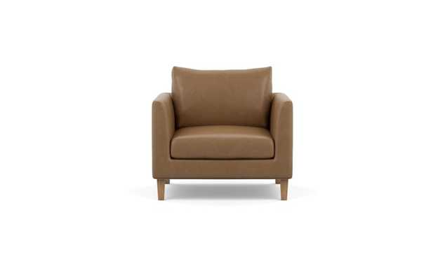 Owens Leather Chairs with Palomino and Natural Oak legs - Interior Define