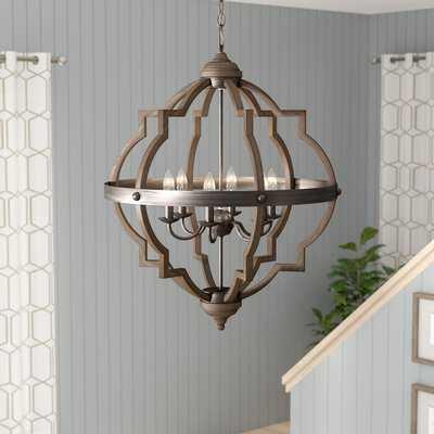 Bennington 6-Light Candle Style Geometric Chandelier - Birch Lane