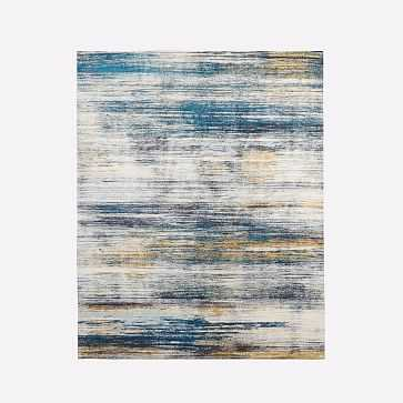 Verve Rug, Midnight, 8'x10' - West Elm