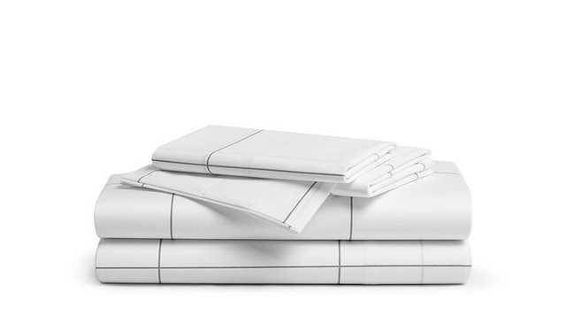 Brooklinen Percale Core Sheet Set - King - Window Pane - Brooklinen