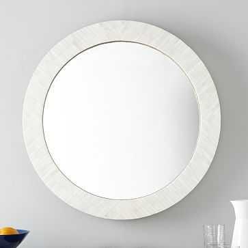 Parson's Wall Mirror, Round, Bone Inlay Frame - West Elm