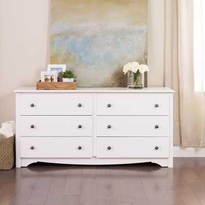 Monterey 6-Drawer White Dresser - Home Depot