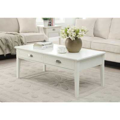 Amelia 47.5 in. x 23.5 in. 2-Drawer Coffee Table in White - Home Depot