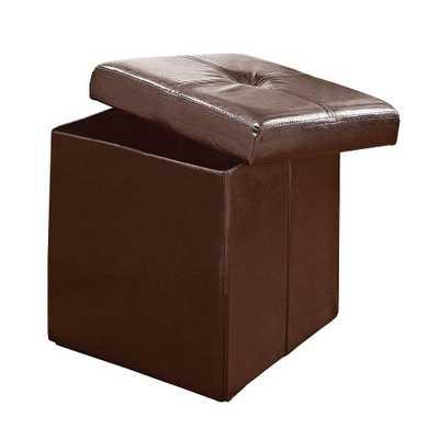 Chocolate (Brown) Storage Ottoman - Home Depot