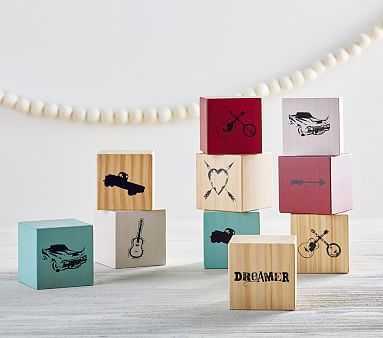 Junk Gypsy Wood Dreamer Blocks - Set of 10 - Pottery Barn Kids