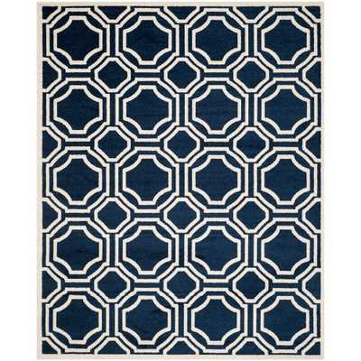 Amherst Navy/Ivory (Blue/Ivory) 8 ft. x 10 ft. Indoor/Outdoor Area Rug - Home Depot