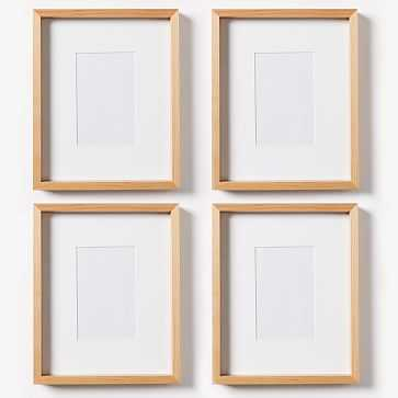 "Thin Wood Gallery Frame, Bamboo, Set of 4, 4""X 6"" (8"" X 10"" Without Mat) - West Elm"