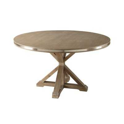 Burnsfield Wooden Round Shaped Dining Table - Wayfair