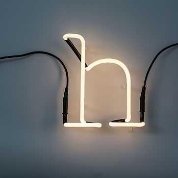 Seletti Neon Art Letters, H - West Elm
