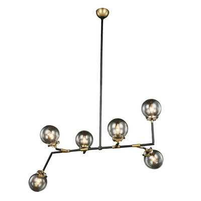 Wojciechowski 6-Light Sputnik Modern Linear Chandelier - AllModern