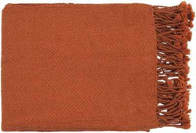"Surya Oranges Tonal Chevron Solid Throw Blanket TUR-8403 - Aprx 50"" x 60"" - eBay"