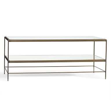 "Leona 44"" Glass Coffee Table - Pottery Barn"