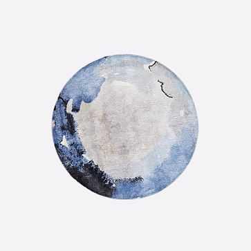 Watermark Round Rug, Frost Gray, 6' Round - West Elm