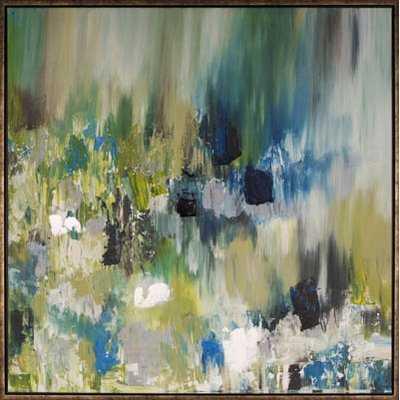 'Summer Pond II' Framed Painting - AllModern