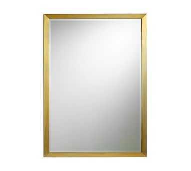 "Studio Wall Mirror, 30 x 42"", Brass - Pottery Barn"