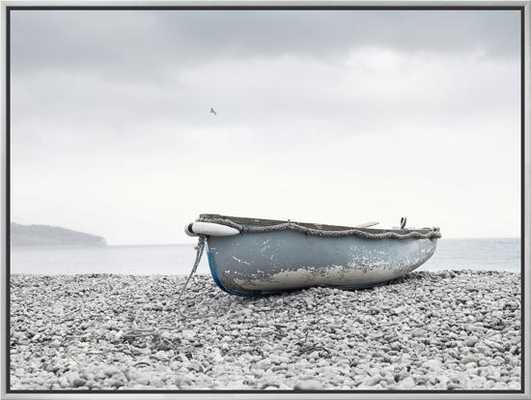 Boat at Beach in Devon - art.com