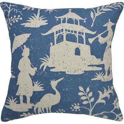 Chinoiserie Linen Throw Pillow - Wayfair
