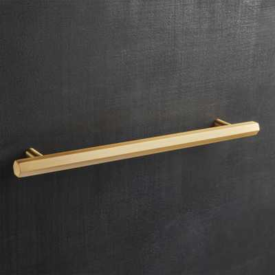 """""""Hex Brushed Brass Handle 8"""""""""""" - CB2"""