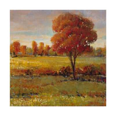 'Field in Fall' Acrylic Painting Print on Wrapped Canvas - Wayfair