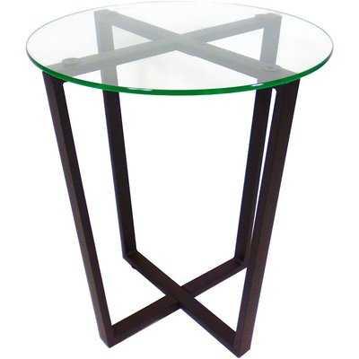 Metro Glass End Table - Wayfair