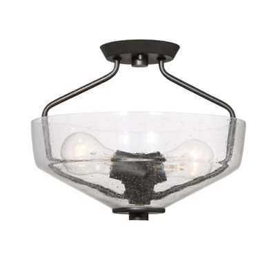Designers Fountain 88011-ORB Printers Row 2-Light Semi-Flush Mount Ceiling Fixtu - eBay