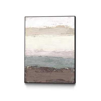 """CLICART 30 in. x 40 in. """"Strata Horizon I"""" by June Erica Vess Framed Wall Art, Brown - Home Depot"""