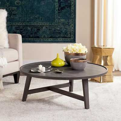 Malone Retro Mid Century Wood Dark Gray Coffee Table - Home Depot