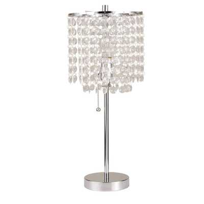 ORE International 20.25 in. Chrome Deco Glam Table Lamp - Home Depot