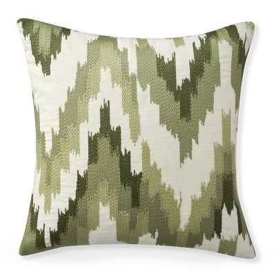 """Flame Stitch Ikat Pillow Cover, 20"""" X 20"""", Green - Williams Sonoma"""