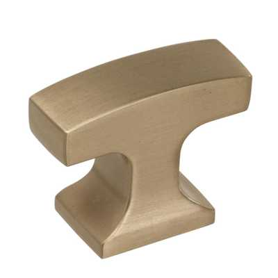 Westerly 1-5/16 in. (33 mm) Golden Champagne Cabinet Knob - Home Depot
