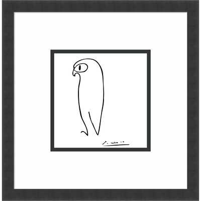 Owl by Pablo Picasso - Picture Frame Print on Paper - AllModern