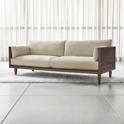 Sherwood 2-Seat Exposed Wood Frame Sofa - Crate and Barrel