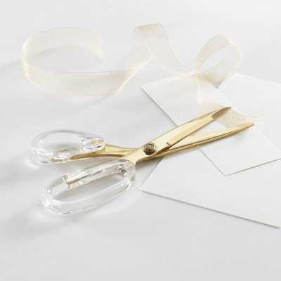 Russell + Hazel Gold and Acrylic Scissors - Crate and Barrel