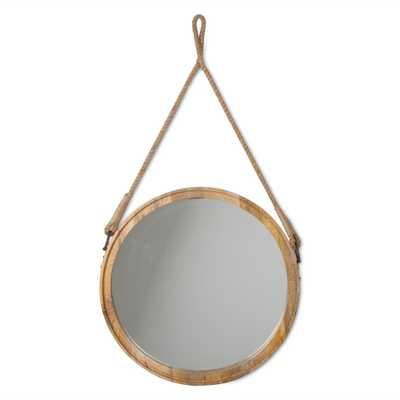 Oval Mango Wood Decorative Hanging Mirror - Home Depot